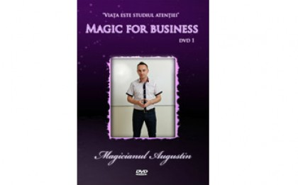 Vrei sa inveti trucuri de magie de la un profesionist? Pachetul de 2 DVD-uri Magic For Business la doar 59 RON in loc de 150 RON
