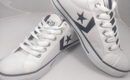 Tenisi Model All Star din panza si piele, diverse culori, la 99 RON in loc de 240 RON. Marimi disponibile 37 - 44