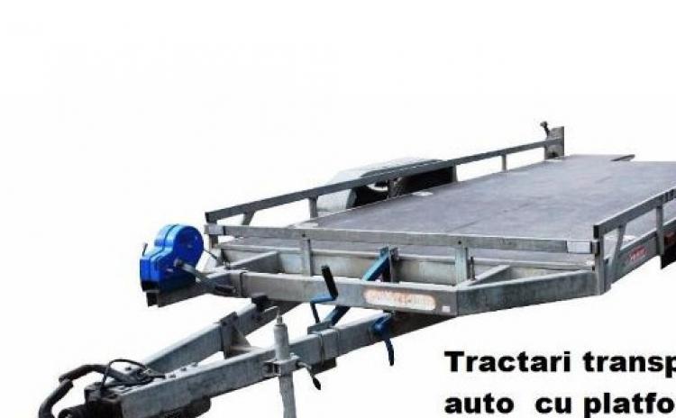 Tractari transport auto cu platforma