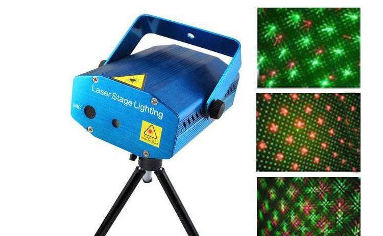 Laser disco proiector doua culori rosu si verde, cu microfon si senzor de sunet integrat + ventilator interior - Explozie de puncte - Ideal pentru discoteci, cluburi, petreceri, aniversari, serbari, show-uri, la 85 RON in loc de 199 RON
