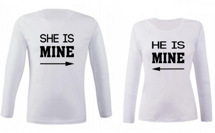 Set de bluze albe pentru cupluri