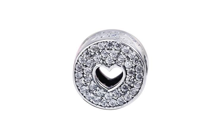 Charm argint 925 Hollow heart