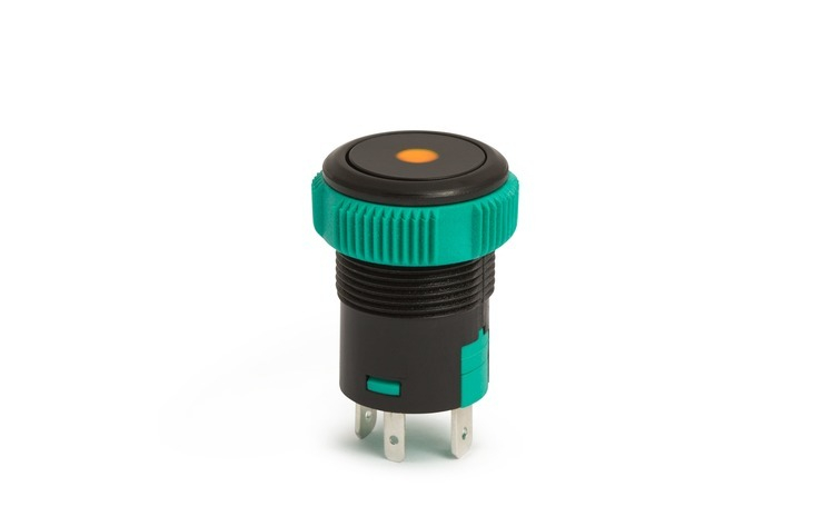 09151OR - Buton de comanda 12V ND, LED