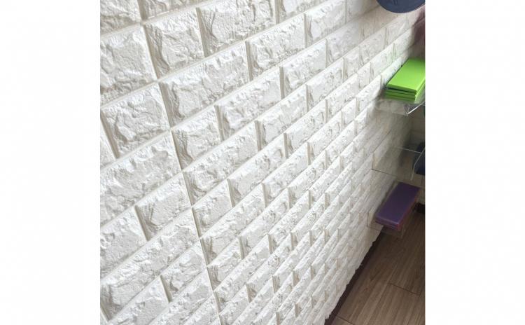 Tapet 3D caramizi albe