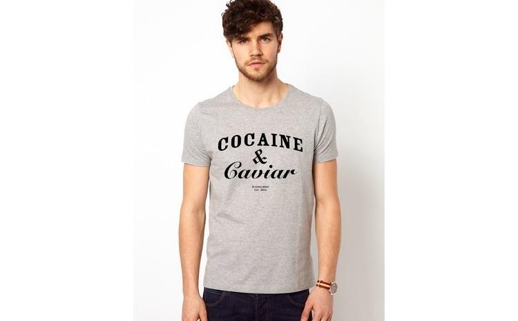 Tricou barbati gri Cocaine & Caviar