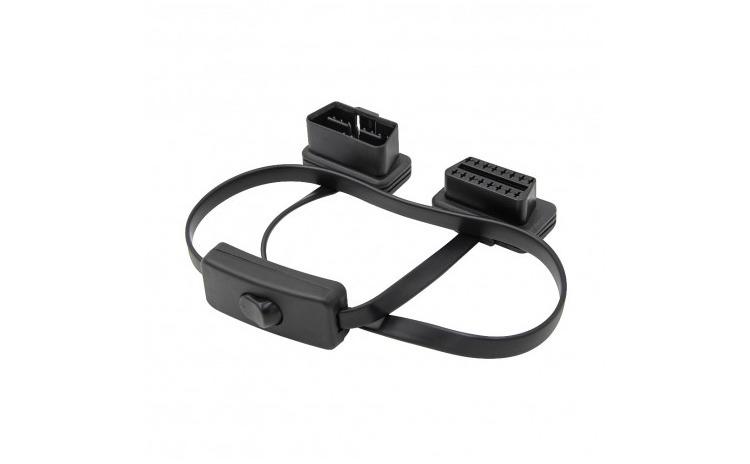 Prelungitor cablu OBD2  60 cm  cu Buton