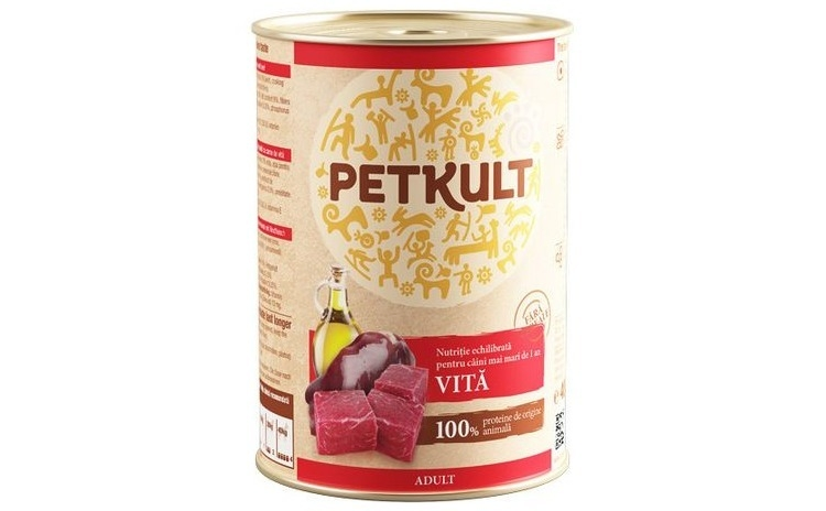 Conserva caini PetKult, Vita, 400 g
