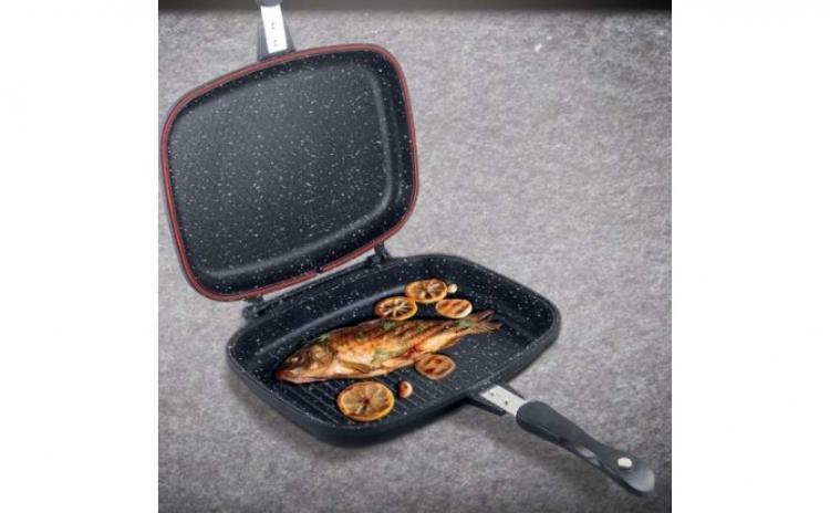 Tigaie grill dubla