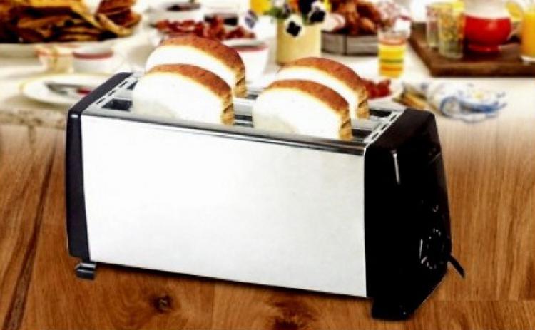 Toaster cu spatiu pentru 4 felii, 6 nivele de rumenire la doar 89 RON in loc de 199 RON