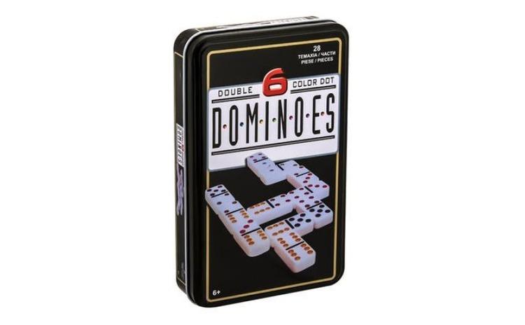 Joc de societate Domino + cutie metalic