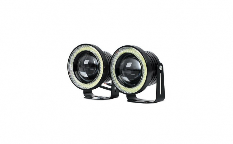 Set 2 proiectoare LED lupa si Angel 89mm
