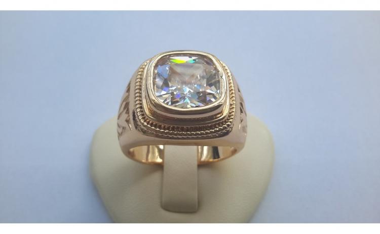 nou stil magazin ridica Inel barbati Luxury Briliant, dublu placat aur 24K - mari... - Arhivat