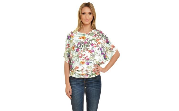 Bluza Dama Multicolor Drapata