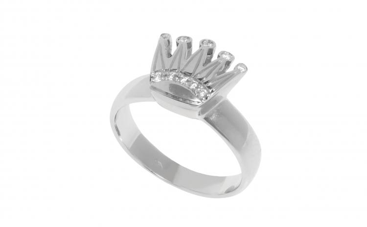 Inel tiara din Aur 18K cu Diamante