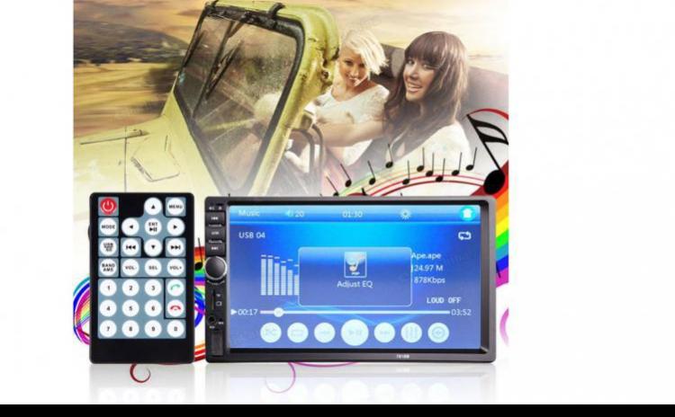 Nou! Video Player Auto 7`` 2din Mp5 Touchscreen Bluetooth Usb Dvd Universal, La Doar 679 Ron In Loc De 1500 Ron! Vezi Video !