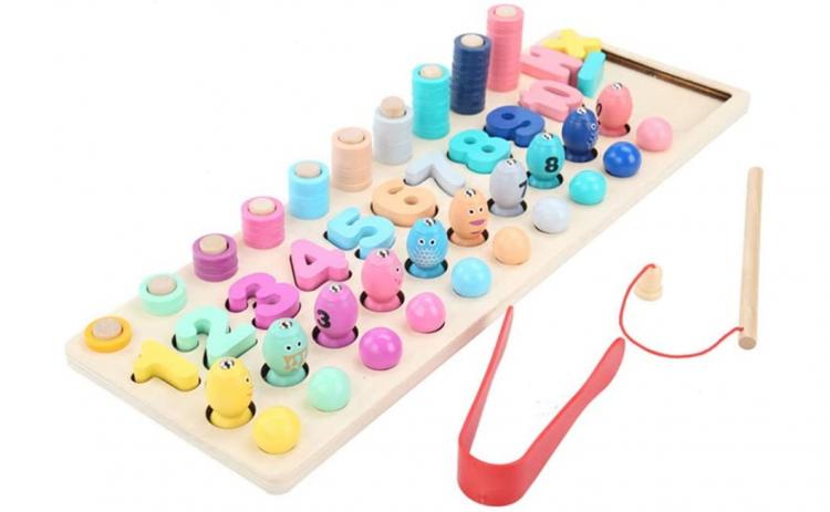 Joc educativ Montessori 4 in 1