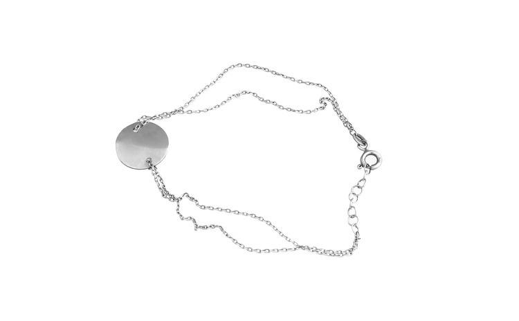 Bratara Argint 925 cu Banut, Reglabila