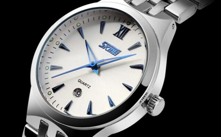 Ceas SKMEI 9071 Silver Blue Fosfor