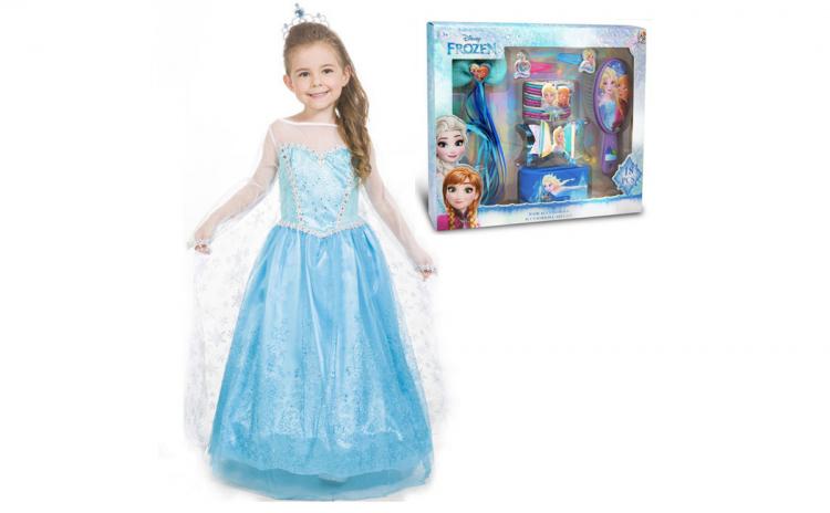Rochie fetite Elsa + Accesorii par