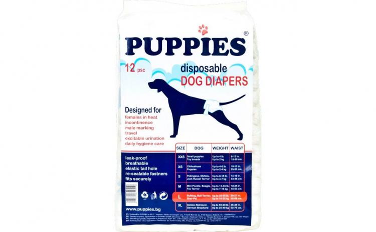 Scutece Pentru Caini Puppies L 12buc/set