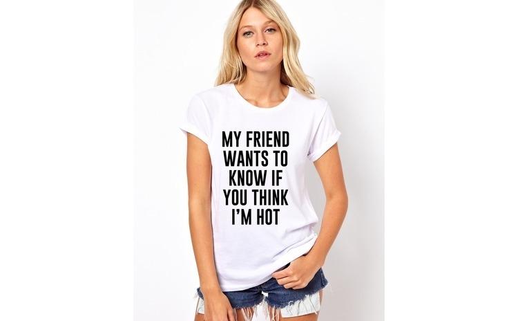 Tricou dama alb -  My Friend Wants To