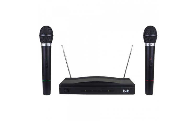 Set microfoane wireless   reciever AT