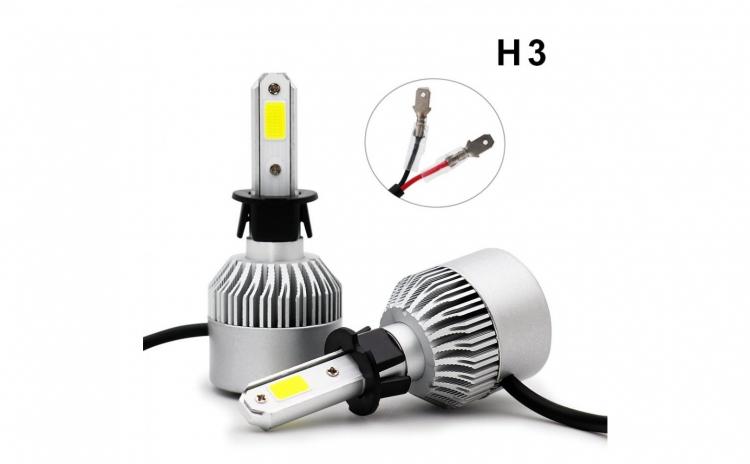 Set becuri LED auto S2, 8000 lumeni- H3