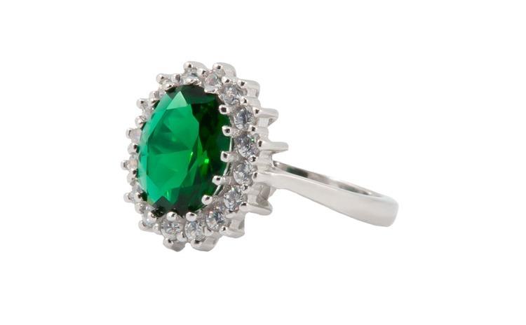 Inel dama argint 925 Emerald Zircon