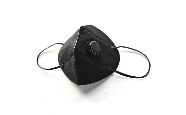 Set 10 masti KN95 FFP2 negru cu valva