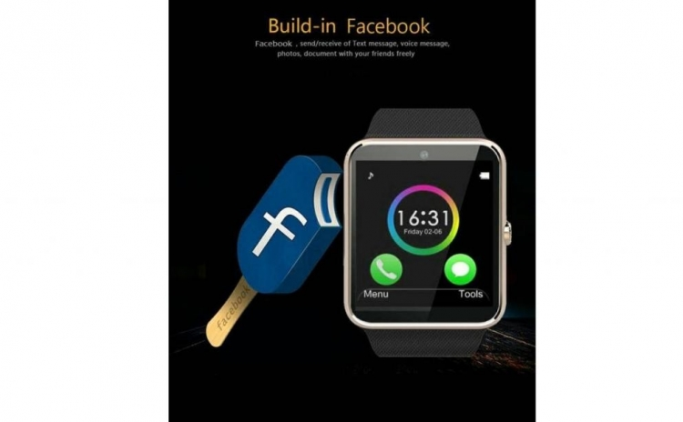 SmartWatch metalic, micro sim, facebook