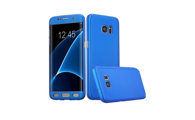 Husa Samsung Galaxy A3 2017 Flippy Full Cover 360 Albastru + Folie de protectie