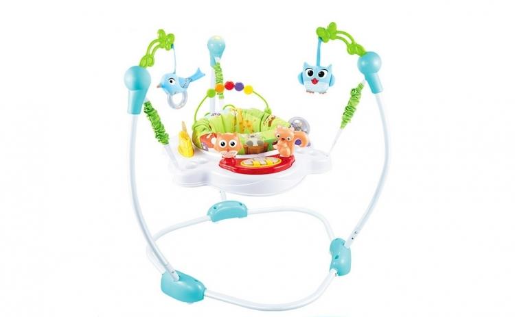 Saritor pentru copii cu centru activitati - Jungle Baby