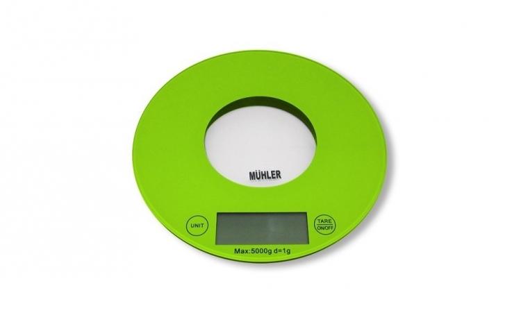 Imagine indisponibila pentru Cantar digital de bucatarie MUHLER, 19.5 x 20.1 x 19.5 cm, verde
