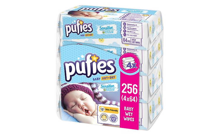 Servetele Umede PUFIES Sensitive, 4x64