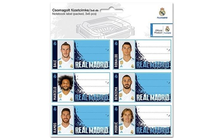 Etichete caiet FC Real Madrid 2017-2018 18 buc