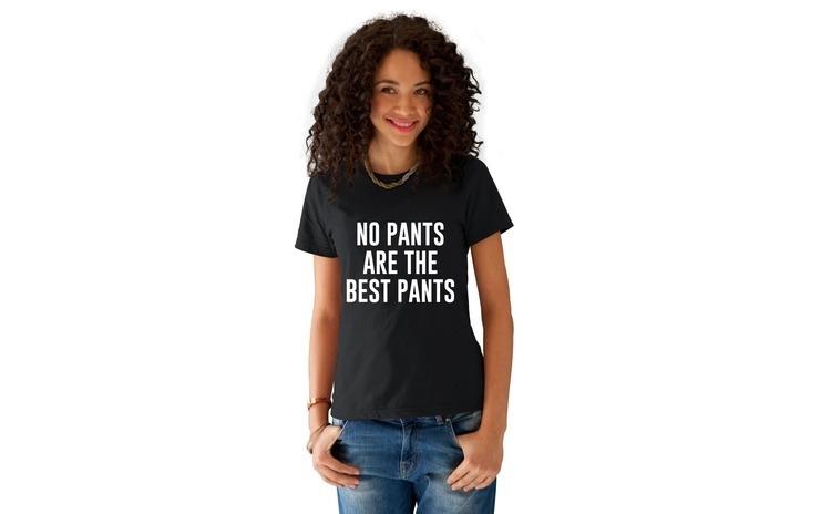 Tricou dama negru -  No PANTS