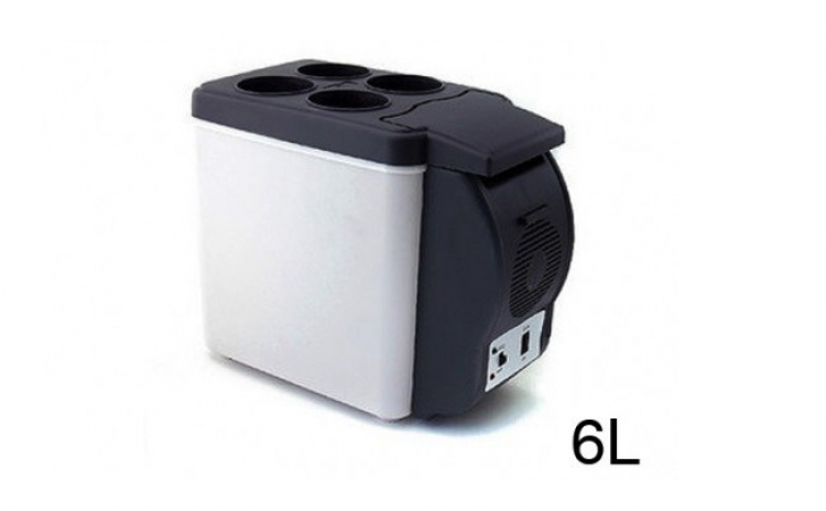 Lada Frigorifica De Tip Mini-frigider Portabil Pentru Masina, Capacitate 6l, La Doar 299 Ron In Loc De 619 Ron! Garantie 12 Luni