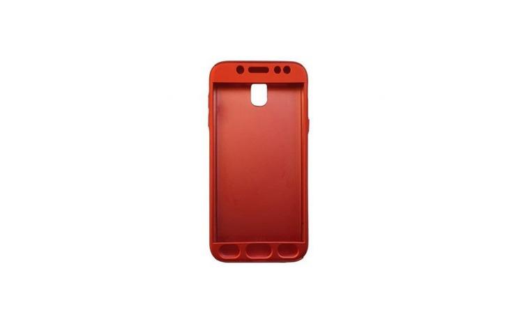 Husa Samsung Galaxy J5 2017 Flippy Full Cover 360 Rosu + Folie de protectie
