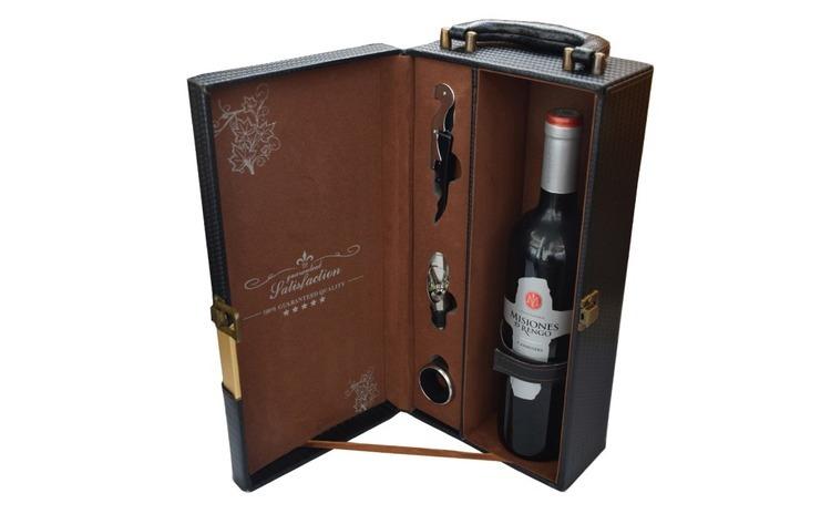 Cutie cadou tip cufar pentru vin, model