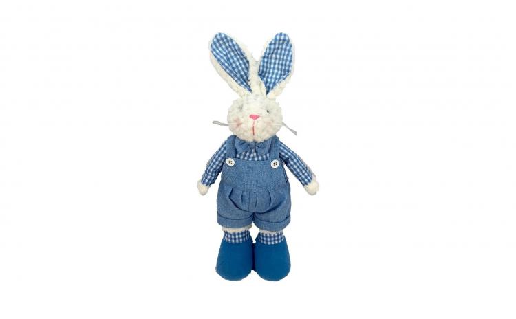 Figurina Iepuras Paste textil albastru