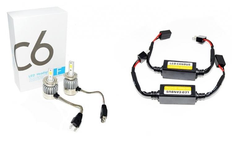 Set 2 becuri cu LED auto H7