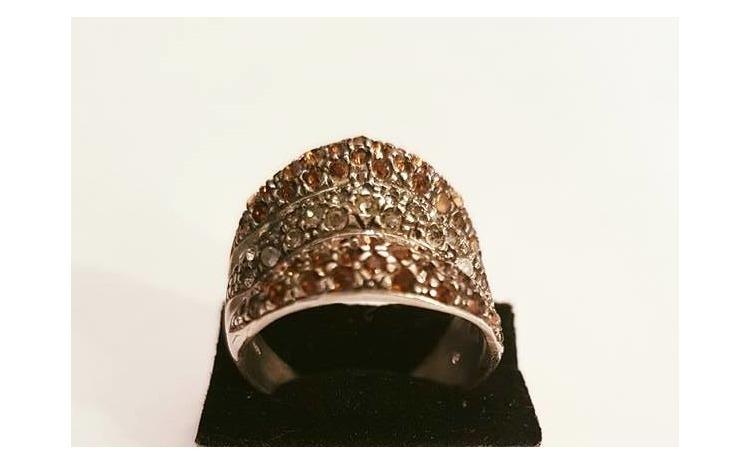Inel din Argint cu Zirconii colorate