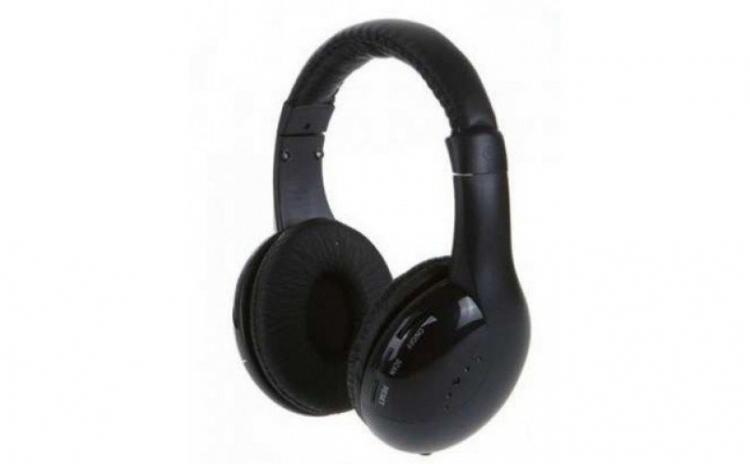 Casti wireless cu microfon, radio FM incorporat MH 2001