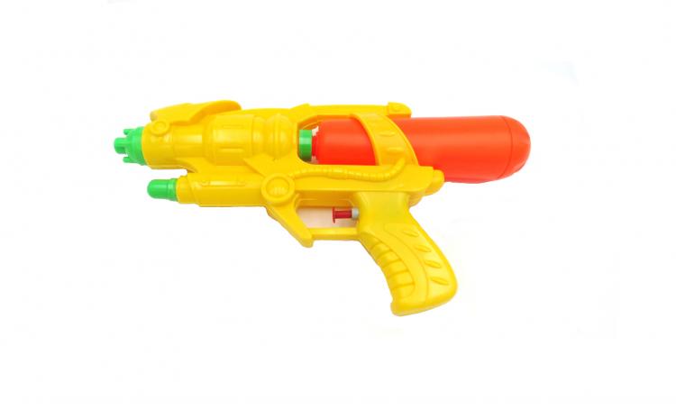 Pistol plastic, apa, galben