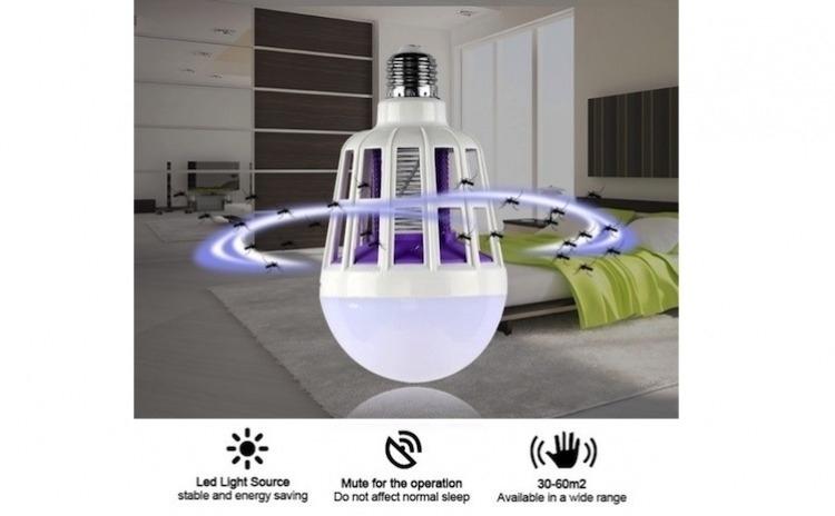 Imagine indisponibila pentru Set 3 becuri inteligente cu LED si dispositiv de curentat tantari + cadou plasa anti-insecte - Durata de viata >= 80000ore