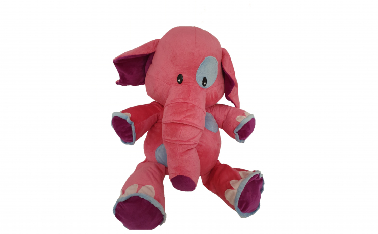 Jucarie de plus, elefant,roz