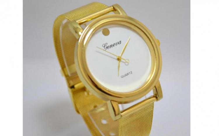 Reduceri Ceasuri de mana – 54 % Reducere – Pret Geneva Golden Love sk034 alb