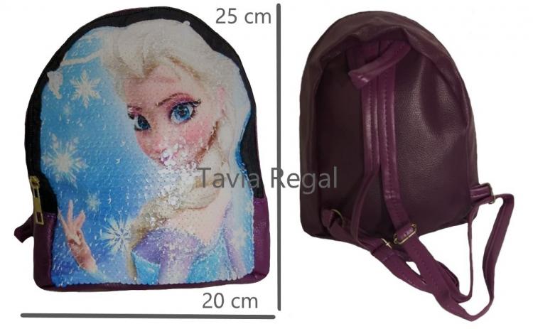 Ghiozdan Frozen pentru fete, cu paiete