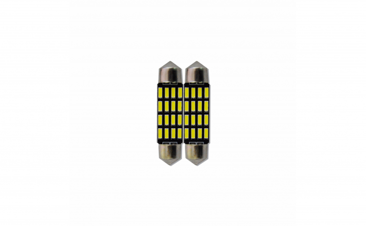 Set 2 becuri tip led, c5w sofit 40mm