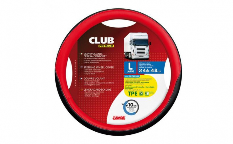 Husa Volan Club Premium 46-48 Rosu